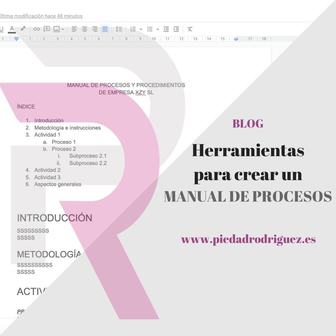 herramientas manual de procesos ventajas google